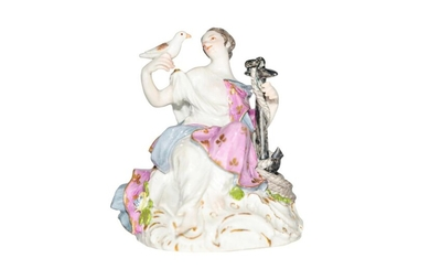 Figure lady with anchor + dove | Figur Dame mit Anker + Taube