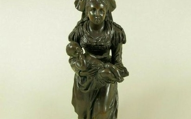 French Bronze statue Pierre Louis Detrier (French,