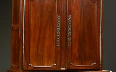 French Louis XV Style Carved Walnut Buffet a Deux