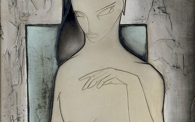 GEORGES YATRIDES EXHIBITED MODERNIST PAINTING