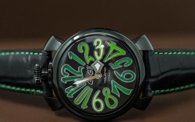 GaGà Milano - Watch Manuale 40mm Black PVD Green - 5022 - Unisex - BRAND NEW