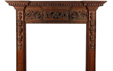 *George II carved pine fireplace surround