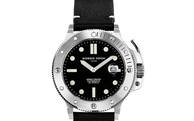 """Giorgio Fedon - Automatic Aquamarine Stainless Steel Black Dial Black Leather Strap - GFCL001 """"NO RESERVE PRICE"""" - Men - 2011-present"""