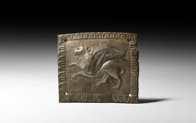 Greek Silver Plaque with Gryphon