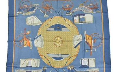 HERMES SILK SCARF, 'LES VOITURES A TRANSFORMATION'