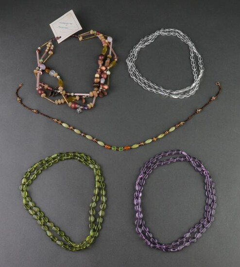 Lot hand crafted necklaces
