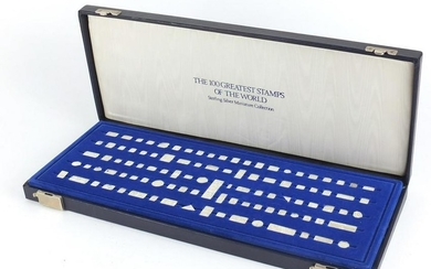 Hundred Greatest Stamps of The World sterling silver