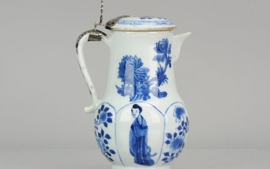 Jar - Porcelain - Lidded Jar – Chinese Porcelain – Figures Flowers – Yu Marked - 1700 Kangxi Period - China - ca 1700