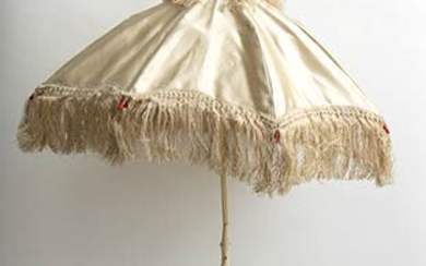Lace umbrella with elephant ivory pole (Loxodonta africana Blumenbach, 1797...