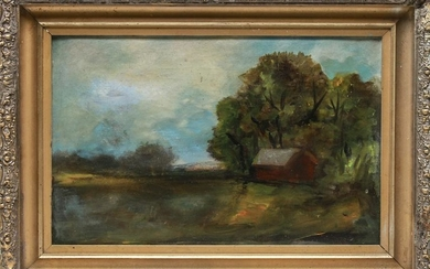 """Landscape with Barn"" Oil on Canvas"