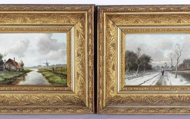 Monogram HG, Dutch landscape, panel 22x33 cm and