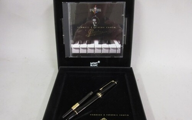 Mont Blanc Hommage a Frederic Chopin fountain pen, in origin...