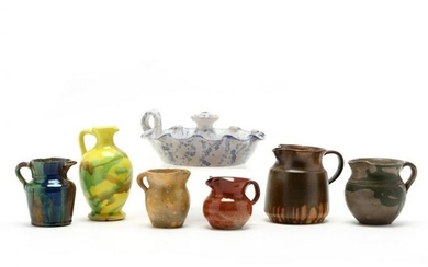 NC Pottery Grouping of Seven
