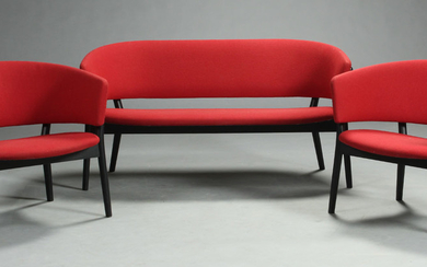 Nanna Ditzel. Two-seater sofa as well as a pair of lounge chairs, model (3)
