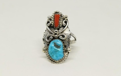Native American Navajo Turquoise Coral.