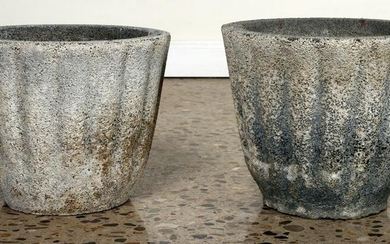 PAIR OF FRENCH CAST STONE URNS CIRCA 1920