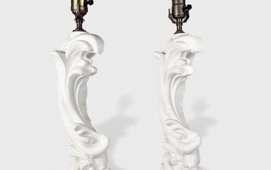 Pair Of Serge Roche Designed Lamps
