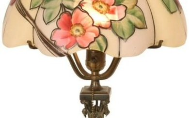 Pairpoint Floral Table Lamp