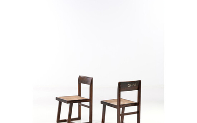 Pierre Jeanneret (1896-1967) Box chairs