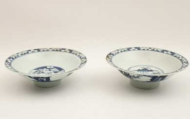 Pr of Blue/ white Chinese porcelain bowls
