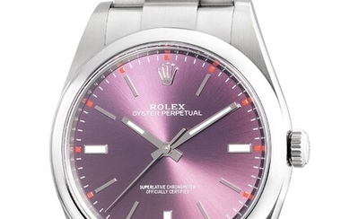 Rolex, Ref. 114300 A fine and attractive stainless steel wristwatch with center seconds, bracelet, guarantee and box