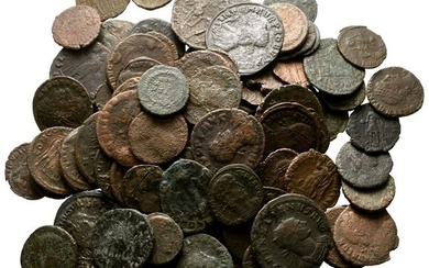 Roman Empire - Lot of 100 AE coins, mainly Late Roman bronzes (Antoniniani/Folles), 3rd-4th century AD