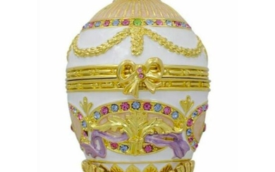 Russian Faberge Style Royal Bonbonniere Egg, Jewel