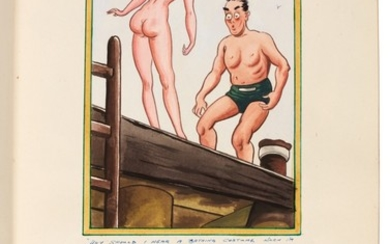 [SEASIDE POSTCARDS] | Two sketchbooks of illustrations, c. 1950s