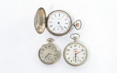 THREE AMERICAN POCKET WATCHES