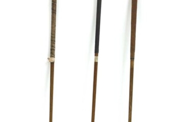 Three hickory shafted vintage golf clubs