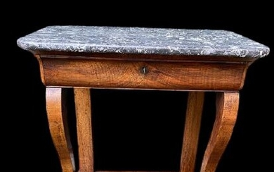 Trumeau or console table with Sint Anna marble - Empire - Mahogany, Marble - 19th century