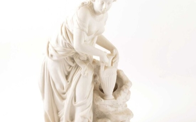 Victorian Parian figure, Rebecca at the well