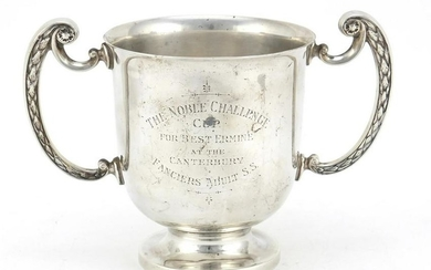 Victorian silver twin handled trophy by Mappin & Webb