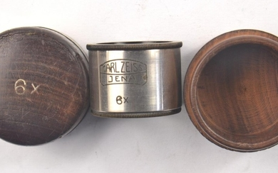 Vintage CARL ZEISS JENA x6 magnifying eye piece within it's ...