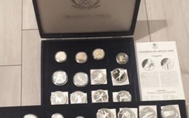 World - Collection various coins 'Calgary 1988 Olympics' (36 pieces) most silver in box