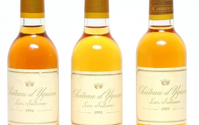 1 bt. ½. Château d'Yquem, Sauternes. 1. Grand Cru Classé 1997 A (hf/in). etc. Total...