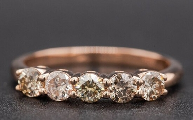 14 kt. Pink gold, 2.06g - Ring - 0.60 ct Diamond - No Reserve Price