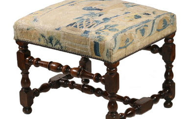17TH C. CONTINENTAL FOOTSTOOL