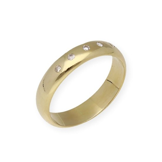 18 kt. Yellow gold - Ring - 0.15 ct Diamond