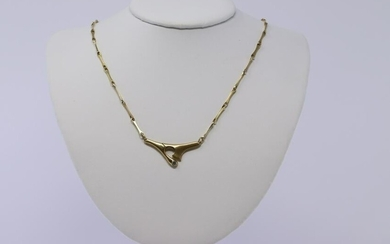 18Kt Hondson's Yellow Gold Diamond Necklace