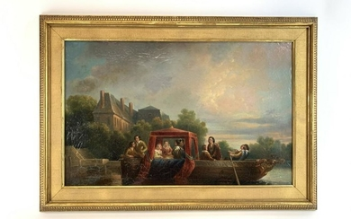 19th C. French Oil On Canvas Painting