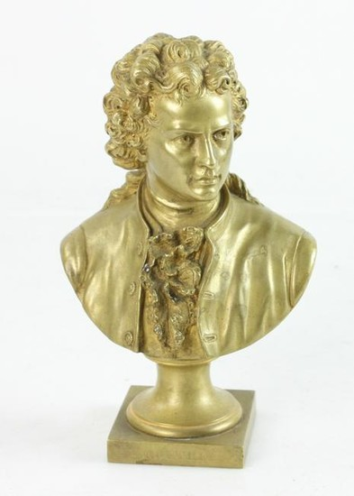 19thC French Gilt Bronze Bust