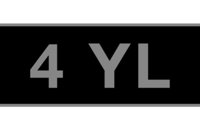'4 YL' - UK vehicle registration number