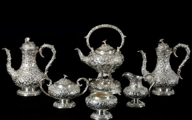 6 Piece Sterling Silver Tea Service by S. Kirk & Son