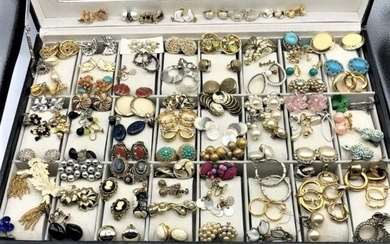 [9] Ninety Assorted Pairs of Clip On Earrings