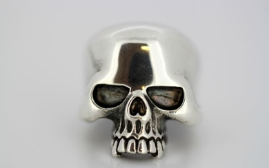 925 Silver, Circa 1950's - Vintage men's ring in the shape of skull