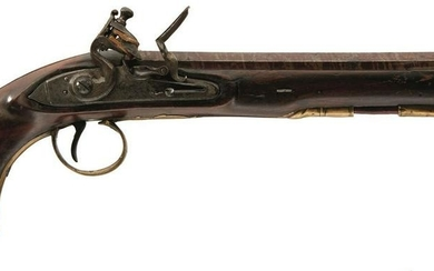 A 15-BORE FLINTLOCK LIVERY OR HOLSTER PISTOL BY