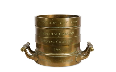 A 19TH CENTURY BRONZE IMPERIAL GALLON MEASURE FOR THE COUNTY OF CHESTER