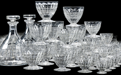 A BACCARAT 'CHARMES' PATTERN PART TABLE-SERVICE, 20TH CENTURY, ACID ETCHED FACTORY MARKS