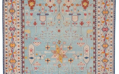 A BIKANER COTTON DHURRIE, RAJASTHAN, NORTH INDIA, EARLY 20TH CENTURY